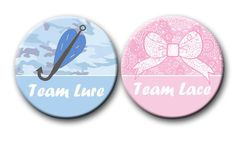Lace or Lure Baby Gender Reveal Party Favors by PutOnYourPartyCap