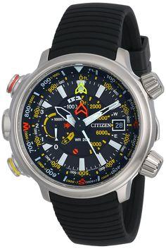 Citizen Men's BN5030-06E Altichron Eco-Drive Titanium Black Rubber Strap - Amazon.ca - 655$