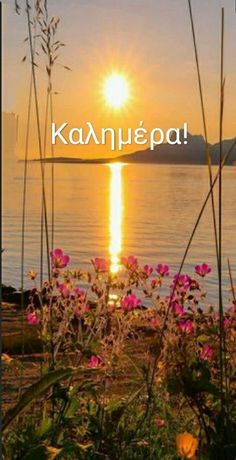 Greek Language, Good Morning, Neon Signs, Good Morning Wishes, Greek, Buen Dia, Bonjour