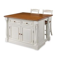 Home Styles Monarch White Kitchen Island With Seating - The Home Depot Kitchen Island With Granite Top, Kitchen Island With Seating, Diy Kitchen Island, New Kitchen, Kitchen Decor, Kitchen Ideas, Kitchen Island With Drop Leaf, Portable Island For Kitchen, Free Standing Kitchen Island