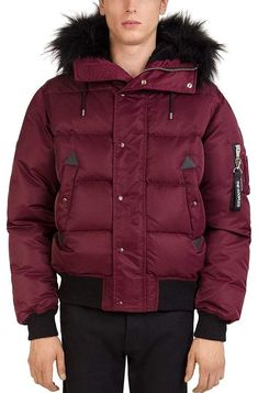 4e1d784214 The Kooples Quilted Down Jacket Acrylic Wool, The Kooples, Jackets Online,  Fur Trim
