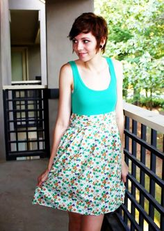 How To Make An Easy Dress (For Cheap!) • Free tutorial with pictures on how to make a tank dress in under 45 minutes #howto #tutorial