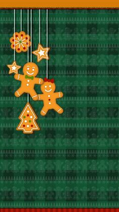 #cute #gingerbread #wallpaper #iphone #android #christmas