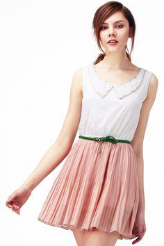 ROMWE | Peter Pan Neckline Pink Dress, The Latest Street Fashion
