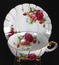 "VINTAGE LOVELY ""CHERRY CHINA"" TEA CUP AND SAUCER SET"