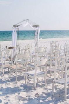 Stunning Rustic Beach Ceremony Decor