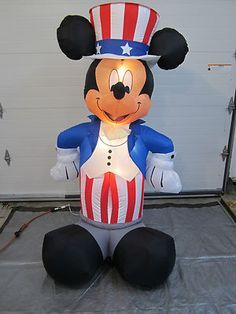 CHRISTMAS Gemmy Inflatable DISNEY Animated Minnie Mickey Mouse ...