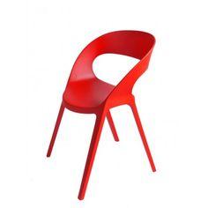 Krzesło Carla czerwone