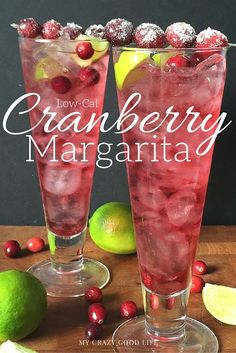 Looking for a treat? This low-cal Cranberry Margarita is delicious and doesn't require you breaking your diet!
