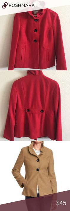 Old Navy Ruffle Collar Wool Peacoat in Radiant Red Old Navy Ruffle Collar Wool Peacoat in Radiant Red  *Excellent condition *Shell: 44% polyester, 38% recycled wool, 10% rayon, 1% other; Lining: 100% polyester *Dry clean {Just dry cleaned!} Old Navy Jackets & Coats Pea Coats