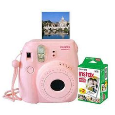 Mini 8 Instant Camera + Film Set. The Fujifilm Instax in Pink is a retro inspired instant camera that lets you take photos in a snap! Creative DIY kits, DIY gift ideas, creative gift ideas, unique gifts, handmade gift ideas, make it yourself, do it yourself.