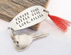 etsy father's day keyring