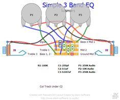 Resultado de imagem para 3 band equalizer schematic