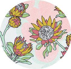 Joel Dewberry for Free Spirit, Cali Mod, Protea Cactus , Fabricworm brings you the latest in Modern fabrics! Andover Fabrics, Landscape Quilts, Scrapbook, Winter Garden, Textured Background, Surface Design, Fabric Crafts, Cali, Basteln