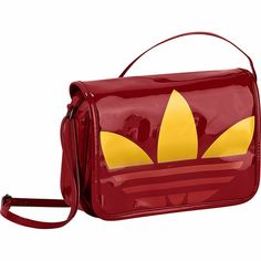 Bolsa Patent Mini Airliner, University Red   Sunshine adidas  women   fashion   0df4a729be