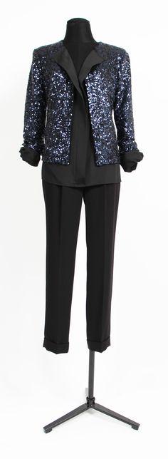 1.2.3 Paris - Veste Rodeo / Pantalon Futur #mode #hiver #123 #sequins #noir #bleu