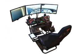 Volair Sim Universal Flight or Racing Simulation Cockpit Chassis with Triple Monitor Mounts - $579
