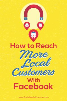 Wondering how to grow local connections on Facebook? With a few organic tactics, you can reach more local customers on Facebook without spending money on ads. In this article, you'll discover four ways to reach a local audience on Facebook. Via @smexaminer.