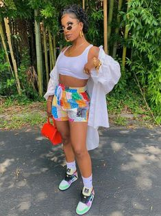 Boujee Outfits, Baddie Outfits Casual, Swag Outfits For Girls, Cute Swag Outfits, Teen Fashion Outfits, Trendy Outfits, Summer Outfits, Rihanna Outfits, Popular Outfits