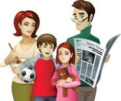 personnages, illustration, individu, personne, gens