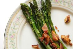 Roasted Asparagus with Almonds and Crispy Bacon