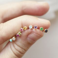 Birthstone Dust Studs Baby Earrings, Dainty Earrings, Stud Earrings, Jewelry Sites, Birthstone Jewelry, Sea Glass Jewelry, Birthstones, Garnet, Sterling Silver Rings