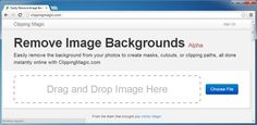 Clipping Magic: Tutorial To Easily Remove Image Backgrounds Online  http://clippingmagic.com/