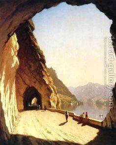 "One of my favorite paintings...    ""Galleries of the Stelvio-- Lake Como,""  Sanford Robinson Gifford (American, 1878)"