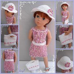 Sylvie on Etsy Tricot American Girl, American Girl Crochet, Glass Cube, Girl Dolls, Crochet Hats, Boutique, Summer Dresses, Knitting, Etsy
