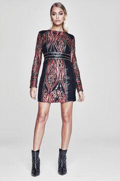 boohoo Premium Lottie Long Sleeve Sequin Dress Boohoo Dresses 5c4d224f0