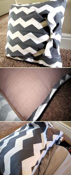 No sew pillow   DIY Stuff Click to see a video learn how to make MONEY   http://diystuff.net/sew-pillow/