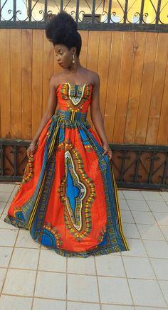 Frema Dashiki Dress/  Ankara Dress / Ankara Gown/ African Print Dress/ African Fashion/ Ankara Prints/ Prom/ strapless by AdinkraExpo on Etsy https://www.etsy.com/listing/401957945/frema-dashiki-dress-ankara-dress-ankara