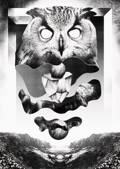 Head over heels for Falko Ohlmer's twisted, textured, gothic #graphic #design. #art