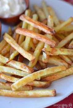 Slimming Eats Perfect Oven Baked Fries - syn free, gluten free, dairy free, vegetarian, Slimming World and Weight Watchers friendly