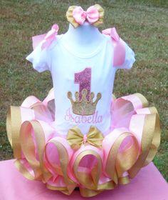 Pink and gold ribbon trim tutu set. birthday, Pink and Gold smash cake set Vinyl Monogram, Monogram Frame, Birthday Party Hats, 3rd Birthday, Birthday Ideas, Disney Princess Birthday, Cake Smash Photos, Gold Ribbons, Pink And Gold