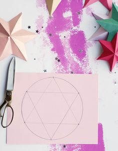 DIY bright paper stars // A Subtle Revelry 3d Paper Star, Paper Stars, Creative Activities For Kids, Fun Crafts For Kids, Wood Stars, Origami Bookmark, Melting Beads, Paper Crafts, Diy Crafts