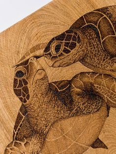 Jes Hooper Pyrography and Pointillism Art
