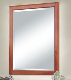 The Lucia bath vanity portrait mirror from Sunny Wood.  Find out more at www.sunnywood.biz.