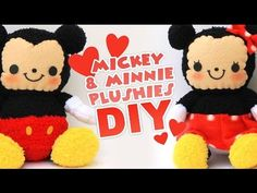 DIY Mickey & Minnie Sock Plushes | Valentine's Collab - YouTube