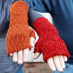 Ravelry: I Can't Control My Fingers pattern by Barbara Benson 20, 20, 24 hours to gooooo. Make the cuff long or short. Make a finger flap or not. Make these mitts your own in no time with a simple texture pattern. DK weight yarn, two sizes.