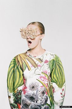 'Botanical Layers' Fashion Project // Masha Reva | Afflante.com