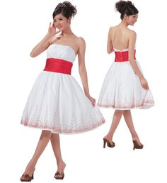 NEW WHITE RED Easter Wedding Pageant Flower Girl Dress | red and ...
