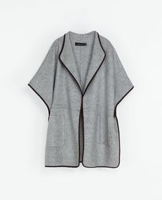 Image 6 of HAND-MADE WOOL CAPE from Zara