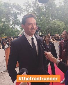 In September I got the privilege to see Hugh at TIFF for his Front Runner movie premiere! I didn't meet him but I did meet his director… Hugh Michael Jackman, Hugh Jackman, Jack Hughman, Australian Actors, Pedro Pascal, Front Runner, Other People, The Man, September