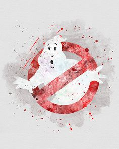 4e495f7c0c9c Ghost Busters Watercolor Art Print