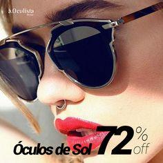 Óculos de Sol com até 72% de desconto Compre pelo site em até 10x Sem Juros e Frete Grátis nas compras acima de R$400,00 reais. 👉 www.aoculista.com.br/oculos-de-sol #aoculista #glasses #eyeglasses #oculos #sunglasses