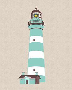 Teal Lighthouse