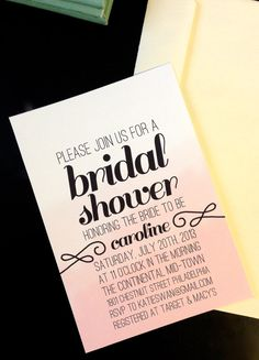 Bridal Shower Invitation - Personalized DIY Wedding, Simple Party Invite #wedding #print