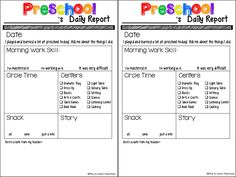 Daily Report Blog.pdf Preschool Daily Sheet, Preschool Daily Report, Preschool Forms, Preschool Planner, Preschool Lesson Plans, Preschool Learning Activities, Preschool Themes, Educational Activities, Daily Progress