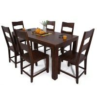 Mckinley 6 Seater Dining Table Set Rs 34 999 Material Sheesham Wood Color Finish